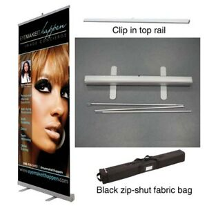 33x80 Retractable Roll Pop Up Banner Stand Sign Display Free Print