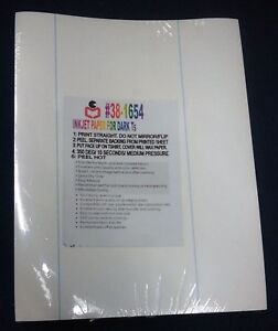 100 Inkjet Heat Transfer Papers For Dark Garment Made In Usa Wholesale Lot