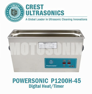 Crest Powersonic P1200h 45 Ultrasonic Cleaner With Heat Timer 2 5 Gal Tank