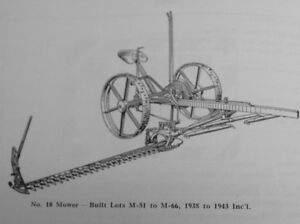 New Idea 10 10a 20 30 Ground Driven Sickle Mower Parts Manual Horse Drawn More