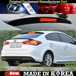 Oem Roof Glass Wing Lip Spoiler Black With Led For 2013 2018 Kia Forte K3