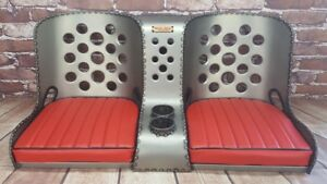 Bomber Seat Rat Rod Hot Rod Bench Seat 42 W Red Cushions