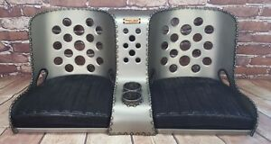Bomber Seat Rat Rod Hot Rod Bench Seat 42 W Black Cushions