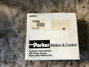 Parker F1020s Hydraulic Flow Control Valve