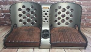 Bomber Seat Rat Rod Hot Rod bench Seat 40 W Distressed Brown Cushions