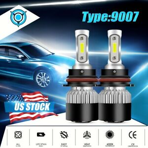 Cob 9007 Hb5 Led Headlights Low High Dual Beam Bulbs Kit 1500w 225000lm 6000k