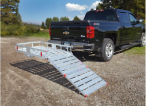 Hitch Mount Cargo Carrier With Ramp Folding Wheelchair Scooter Rear Truck Rack