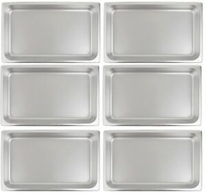 6 Pack Stainless Steel Steam Table Hotel Pan 2 1 2 Deep 20 X 12 Full Size