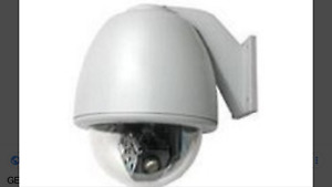 Ge Security Kta re8 d1c Outdoor Rugged Cyberdome 18x D n Ptz Camera System 3870