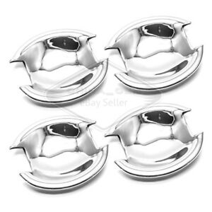 Fit 2007 2014 Mitsubishi Lancer Evo Chrome Door Handle Bowls