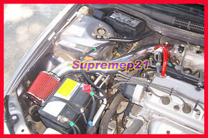 Red 1997 2001 Honda Prelude 2 2l L4 All Models Air Intake Free 2 Day Shipping