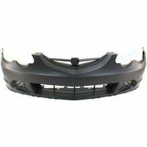 Bumper Cover For 2002 2004 Acura Rsx Front Plastic Primed With Emblem Provision