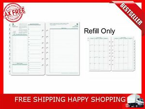 Original Dated Daily Planner Refill January To December 5 1 2 X 8 1 2 2018 New