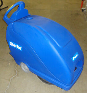 Clarke Fusion 20t Walk Behind Floor Burnisher Only 4 5 Hours New Batteries
