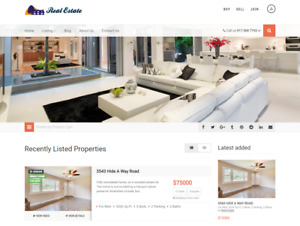 Exclusive Letting Agency Real Estate Website Business For Sale Mobile Friendly