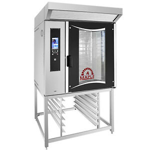 Mini Rotating Rack Oven With Stand And Extractor Hood
