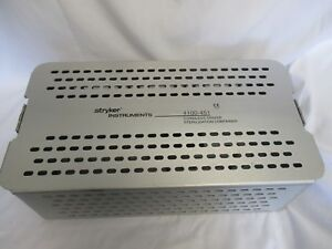Stryker Instruments Cordless Driver Sterilization Container 4100 451 Case Used