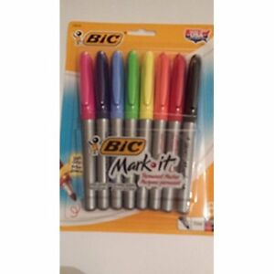 Bic Mark it Permanent Markers Fine Point Assorted 8 set