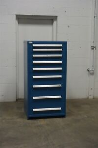 Used Vidmar 9 Drawer Cabinet Industrial Tool Storage 695 Mac