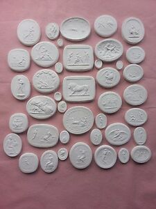 41 Grand Tour Cameo Intaglios Gems Medallion Plaster Seals Tassies Coin Free P