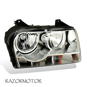 For 2005 2010 Chrysler 300 Passenger Side Replacement Headlight Included Bulbs