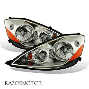 2006 2010 Replacement Headlight Lamp Pair For Toyota Sienna W Bulb Socket