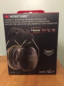 3m Worktunes 90543 Connect Wireless Bluetooth Ear Muff Hearing Protector new