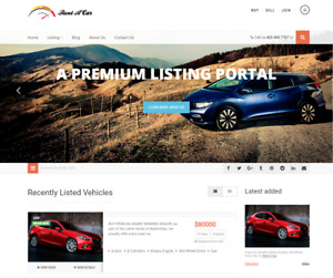 Exclusive Car Dealership Website Business For Sale Mobile Friendly