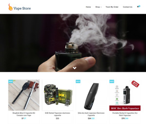 Established Vape Turnkey Website Business For Sale Profitable Dropshipping