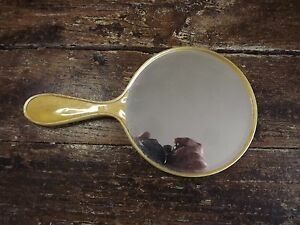 Vintage 1940s Plastic Ladies Dressing Mirror 10in Good Vintage Condition