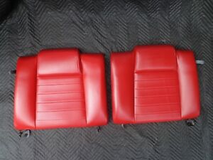05 09 Ford Mustang Gt Red Leather Rear Seat Backs Oem Factory Fold Down 06 07 08