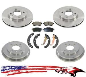 New Front And Rear Brake 6pc Kit For Ford Fiesta 2011 2017 With Rear Brake Drums