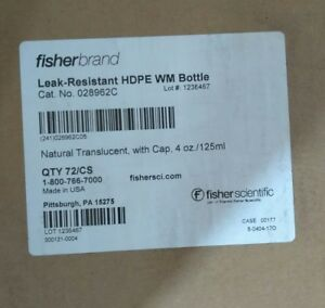 New Fisherbrand Leakproof Hdpe Wide mouth Bottles