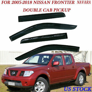 Vent Window Shade Visor Guard Deflector For Nissan Frontier 05 18 Left