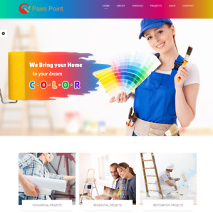 Exclusive Paint Services Website Business For Sale Mobile Friendly