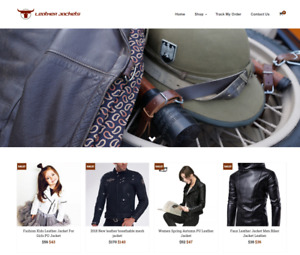 Leather Jackets Turnkey Website Business For Sale Profitable Dropshipping