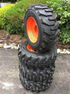 4 New Camso Xtra Wall 12x16 5 Skid Steer Tires Wheels rims For Bobcat