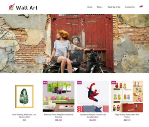 Established Wall Art Turnkey Website Business For Sale Profitable Dropshipping