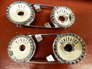 1957 Mercury Monterey Montclair Dash Gauge Bezel Set Lights Gen Wipers Oil
