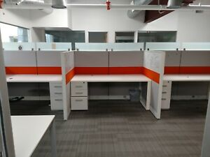 Modern 4x3 Telemarketing Cubicle Different Configurations Available
