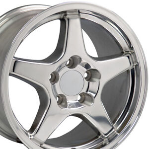 17x9 5 Wheels Fit Camaro Corvette Zr1 Polished Rims W1x Set