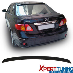 Fits 09 10 Toyota Corolla Sedan Factory Flush Mount Matte Black Trunk Spoiler