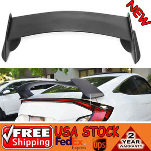 Type R Style Plastic Rear Trunk Wing Spoiler For 2016 2018 Honda Civic 4dr Sedan
