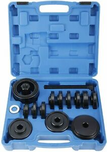 23 Pcs Front Wheel Drive Bearing Removal Press Adapter Puller Pulley Tool Kit Us