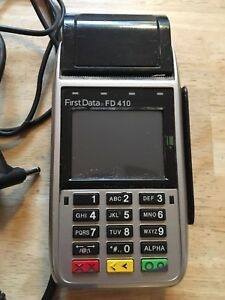 First Data Fd410 Gprs Credit debit Emv Chip Reader Wireless Terminal