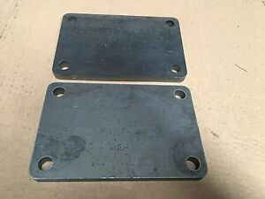 2 pc 5 8 X 6 X 9 3 16 Inch Steel metal Plate W 4 11 16 Inch Holes In Corners
