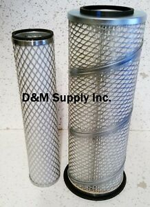 Ford Diesel Tractor Inner Outer Air Filter Set 7000 7600 7700 6610 6710 7610 Tw5