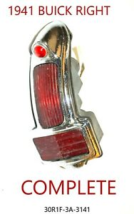 Red Plastic Lens Tail Stop Light Cover Vintage Old Antique Right Side Complete