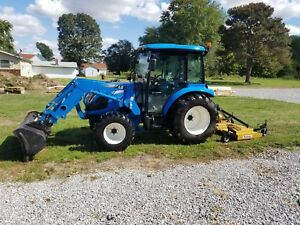Ls Xr4155 4x4 55hp Tractor Hydro Cab Heat A c 72 Finish Mower New Holland Case
