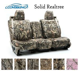 Coverking Custom Seat Covers Neosupreme Front Row Solid Realtree Camo
